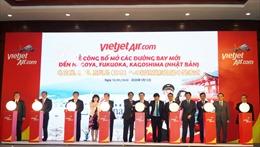 Vietjet mở thêm 5 đường bay mới tới 'Xứ sở mặt trời mọc'