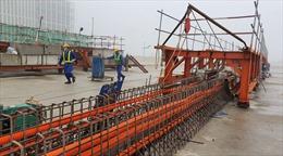 Tăng tốc thi công, đảm bảo vượt tiến độ 3 tháng công trình cầu cạn đoạn Mai Dịch - Nam Thăng Long