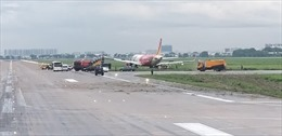 Mở cửa trở lại đường cất hạ cánh sân bay Tân Sơn Nhất sau sự cố của máy bay Vietjet