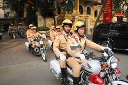 Phân luồng giao thông diễn tập bảo vệ Đại hội đại biểu toàn quốc lần thứ XIII của Đảng