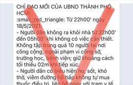 TP Hồ Chí Minh bác thông tin giới nghiêm từ 22 giờ ngày 18/5
