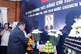 Lãnh đạo Đảng, Nhà nước Lào viếng và ghi sổ tang Chủ tịch nước Trần Đại Quang