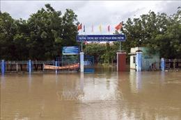 Bão số 9: Mưa lũ lớn, học sinh Ninh Thuận nghỉ học để đảm bảo an toàn