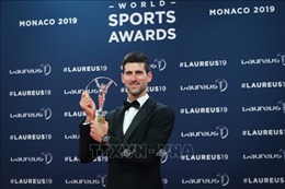 Tay vợt Novak Djokovic xuất sắc đoạt danh hiệu 'Vận động viên nam của năm'