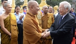 Tổng Bí thư, Chủ tịch nước Nguyễn Phú Trọng thăm chức sắc cao cấp Phật giáo Campuchia