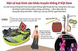 Một số loại hình sân khấu truyền thống ở Việt Nam