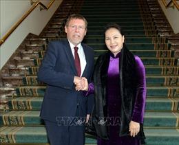 Chủ tịch Quốc hội Nguyễn Thị Kim Ngân hội kiến Chủ tịch Hạ viện Vương quốc Bỉ