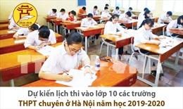 Dự kiến lịch thi vào lớp 10 các trường THPT chuyên Hà Nội