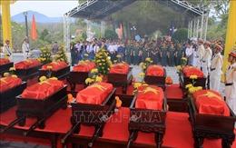 Tổ chức truy điệu, an táng 18 hài cốt liệt sĩ hy sinh tại Lào