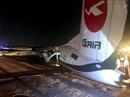 Máy bay Bangladesh chệch khỏi đường băng, nứt vỡ làm 3 khi hạ cánh ở Myanmar