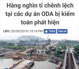 Xử lý thông tin báo chí nêu chênh lệch hàng nghìn tỷ đồng tại các dự án ODA