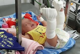 Bắt người cha bạo hành con trai mới 4 tháng tuổi tại TP Hồ Chí Minh