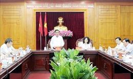 Chủ nhiệm Ủy ban Kiểm tra Trung ương Trần Cẩm Tú làm việc tại Lạng Sơn