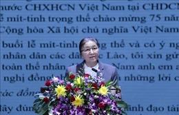 Lào tổ chức mít tinh trọng thể kỷ niệm 75 năm Quốc khánh Việt Nam