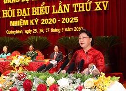 Chủ tịch Quốc hội dự Đại hội đại biểu Đảng bộ tỉnh Quảng Ninh lần thứ XV