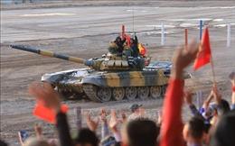 Đội tuyển xe tăng Việt Nam tạm đứng vị trí thứ hai ở bán kết Army Games 2020