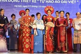 Trao giải Cuộc vận động thiết kế 'Tự hào áo dài Việt'