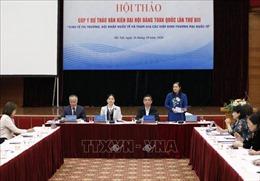 Góp ý dự thảo văn kiện Đại hội Đảng XIII: Nâng cao quyền năng kinh tế cho phụ nữ