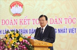 Phó Thủ tướng Trịnh Đình Dũng dự Ngày hội Đại đoàn kết toàn dân tại Vĩnh Phúc