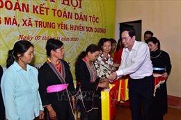 Đồng chí Trần Thanh Mẫn dự Ngày hội Đại đoàn kết toàn dân tộc tại Tuyên Quang