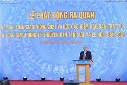 Phó Thủ tướng Trương Hòa Bình dự Lễ phát động ra quân Năm An toàn giao thông 2021