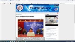 Báo chí Lào đồng loạt đưa tin Việt Nam tổ chức bầu cử thành công
