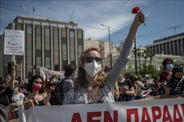 Hàng nghìn người Hy Lạp biểu tình phản đối dự luật cải cách lao động