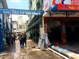 Cháy lớn tại cửa hàng kinh doanh xe máy ở trung tâm TP Hồ Chí Minh