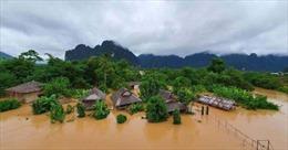 Lào: Nhiều khu vực chìm trong nước lũ do ảnh hưởng của bão Koguma