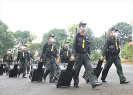 Trung đoàn Cảnh sát Cơ động Tây Nguyên xuất quân hỗ trợ Bà Rịa - Vũng Tàu