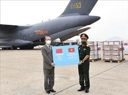 Tiếp nhận 200.000 liều vaccine do Bộ Quốc phòng Trung Quốc tặng Bộ Quốc phòng Việt Nam