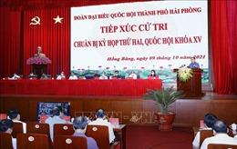 Chủ tịch Quốc hội Vương Đình Huệ tiếp xúc cử tri quận Hồng Bàng, Hải Phòng