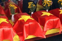 Nghệ An đón 98 hài cốt liệt sỹ quân tình nguyện và chuyên gia hy sinh tại Lào