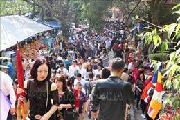 Tưng bừng lễ hội Khán hoa mẫu đơn tại chùa Phật Tích