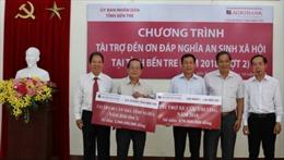 Agribank Bến Tre tài trợ 2,87 tỷ đồng cho công tác an sinh xã hội tại Bến Tre năm 2018