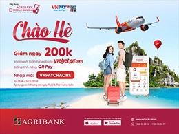 Giảm ngay 200.000đ khi thanh toán vé VietjetAir.com bằng QR Pay trên Agribank E-Mobile Banking