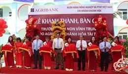 Agribank Khánh Hòa tài trợ bàn giao trường mầm non Vĩnh Trung trước thềm năm học mới