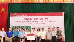 Agribank Lạng Sơn chăm lo sự nghiệp 'trồng người' nơi biên cương của Tổ quốc