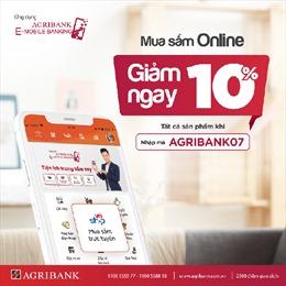 Giảm ngay 10% tất cả các sản phẩm tại siêu thị điện tử Vnshop trên ứng dụng Agribank E-Mobile Banking
