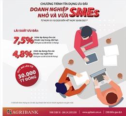 Agribank dành 30.000 tỉ đồng cho vay ưu đãi doanh nghiệp nhỏ và vừa