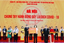 Agribank ủng hộ Hà Nội 10 tỷ đồng cho Quỹ vaccine phòng COVID-19 và công tác phòng chống dịch
