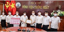 Agribank Chi nhánh 7 ủng hộ BV Thống Nhất 500 triệu đồng để phòng, chống dịch COVID-19