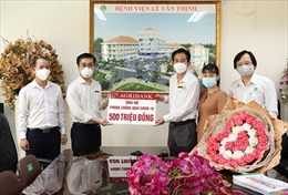 Agribank Chi nhánh Hiệp Phước ủng hộ BV Lê Văn Thịnh 500 triệu đồng phòng, chống dịch COVID-19