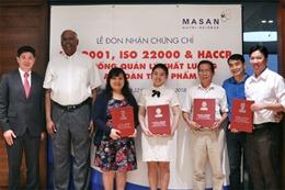 Masan nhận chứng chỉ ISO 9001, ISO 22000 và HACCP cho 12 nhà máy thức ăn chăn nuôi