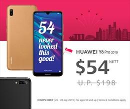 Huawei có chương trình khuyến mãi bán smartphone HUAWEI Y6 Pro 201 với giá rẻ tại Singapore