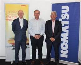 Komatsu ký kết hợp đồng dài hạn với DHL tại Australia
