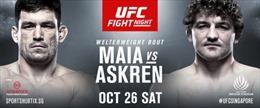 UFC trở lại Singapore với trận đấu kinh điển giữa Demian Maia và Ben Askren