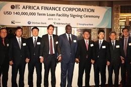 Africa Finance Corporation vay được 140 triệu USD từ Ngân hàng Shinhan (Hàn Quốc)
