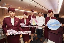 Qatar Airways khai trương dịch vụ ăn uống 'Quisine' cho hạng Economy trên chuyến bay đi/đến Trung Quốc