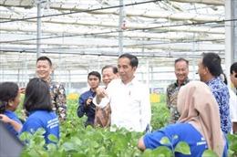 Tổng thống Indonesia Joko Widodo dự lễ khai trương nhà máy sản xuất tơ sợi nhân tạo lớn nhất nước